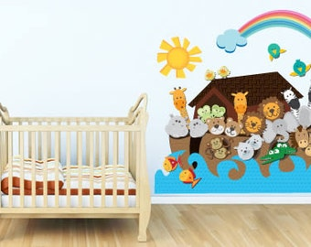 Noah's Ark removable wall decal