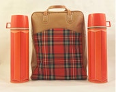 Vintage Thermos Picnic Bag Set