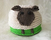 Baby Hat  Knitting Knitted Beanie Knitted  Lamb Hat Animal  Easter Knitted Sheep Knit Hat Children Clothing
