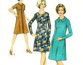 70s Dress Vintage Sewing Pattern Style 3883 Bust 37""