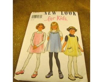 New Look for Kids Girls Jumper Pattern #6557 – Girls Age 3 – 8 – Simplicity Uncut Sewing Pattern of 2 Styles