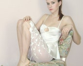 sheer lingerie pants or bloomers in cotton embroidered mesh HEIRLOOM lace - made to order