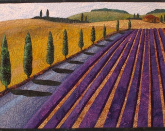 Summer in Provence Art Quilt Pattern by Lenore Crawford