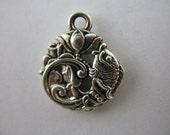 Lotus Charm/Dangle Accent Beads Silver Plated Fish Charms Spiritual Charms and Pendants M6