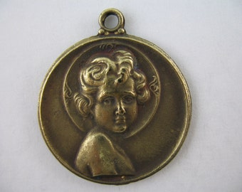 Religious Medal Vintage Inspired Holy Childhood Religious Jewelry Supplies GL9