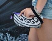 Tribal Tattoo Art Mini Clutch - Gadget Bag - Cell Phone Bag featuring Maui artist Keahi Raikes