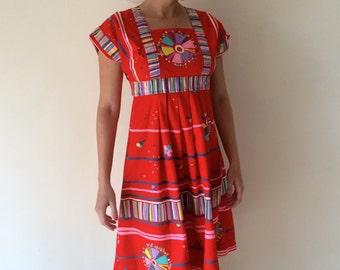 1970s Day Dress Sz XS