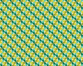 1 yard - Hourglass in Aquamarine, Notthing Hill collection by Joel Dewberry