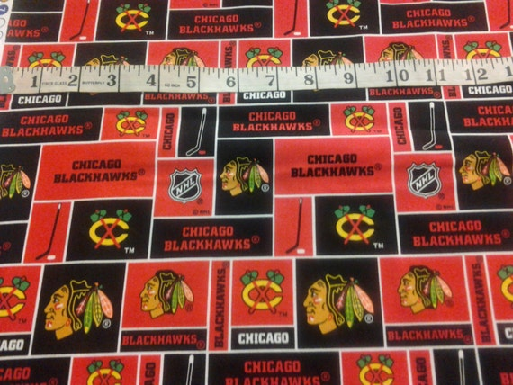 Chicago Blackhawks Fabric Half Yard