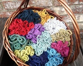 1 lb Wool Potholder Loopers (also known as Loops, sock rings, clips) in Standard colors