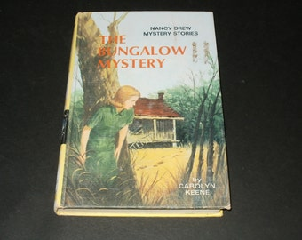 Vintage 1960 Nancy Drew Mystery Book - The Bungalow Mystery by Carolyn Keene - Illustrated, Collectible