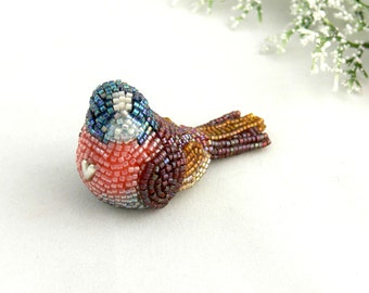 Songbird Figurine Beaded Bird Decoration Love Bird *READY TO SHIP