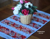 Sewing Pattern Quilt As You Go Table Runner