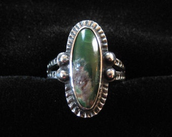 Green Turquoise Navajo Ring, Size 4.5