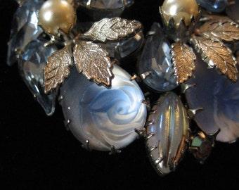 Molded Glass Rose Brooch, D&E Juliana, Stunning Piece