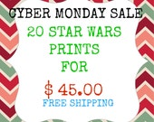 Cyber Monday Star Wars 20 Prints for 45 Dollars Get 10 Free Prints Free Shipping