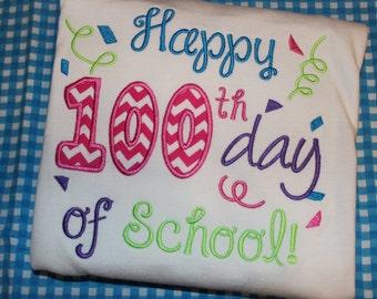 Happy 100th Day of School- child or teacher shirt
