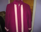 Vintage Vanity Fair Purple/Pink Long Robe - Size 14