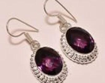 Selection Sterling Silver purple amethyst  earrings    on   Sale