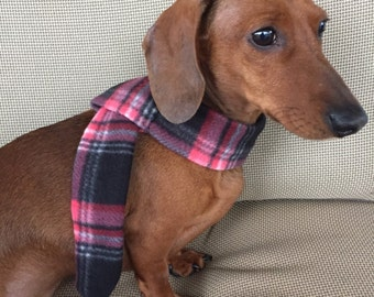 Plaid Fleece Dog Scarf