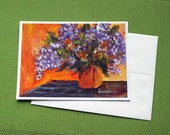 Lilac Bouguet - Hand Painted Original Floral Greeting Card