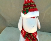 Dogs, Cats, Pets Christmas Hat and Scarf Set
