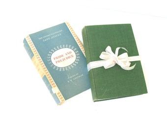 Pride and Prejudice by Jane Austen, Oxford University Press, , London, Green Book Decor, Vintage Jane Austen Book, Janeite, AustenLover