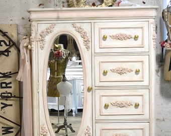 Painted Cottage Chic Shabby Romantic French  Dresser LGCH25