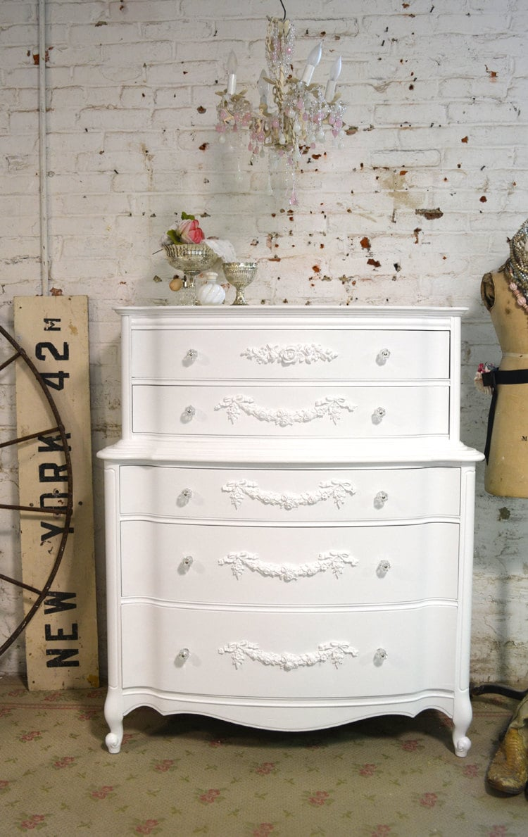 Painted Cottage Chic Shabby French Dresser CH810 – Haute Juice