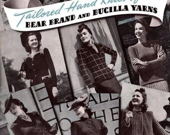 Bear Brand & Bucilla #321 c.1941 - Tailored Hand Knits for Women