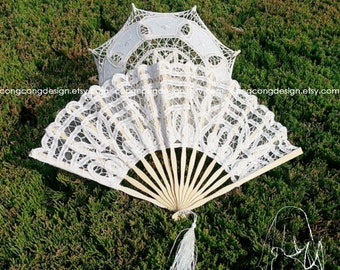 Lace Fan For Wedding, Party, Event