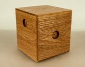 The Oak Cube box with softened edges