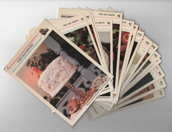 24 Recipe Cards 1973 McCall's Great American Replacements