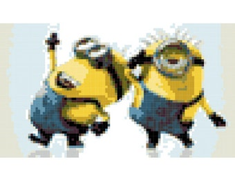 Minions Cross Stitch Pattern (Printable PDF) - Immediate Download from Etsy