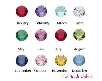 Floating Birthstone Crystal Charms 5mm - Birthstones for your Living Memory or Origami Owl Locket