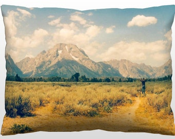 Decorative Landscape Pillow - The Grand Tetons