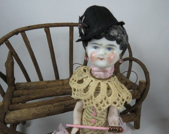 "Assemblage Angel ""X"" Assemblage Art Doll,  Pink Assemblage Doll"
