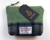 Harris Tweed makeup bag - cosmetic bag - waterproof lining - tartan make-up pouch - Handmade in Scotland