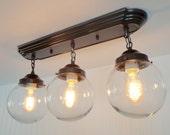 Biddeford II. Modern Ceiling Light Fixtures Rectangular FOUR LIGHT reserved for Angie