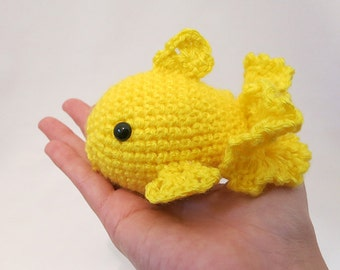 MADE to ORDER - Amigurumi Goldfish - amigurumi fish plush, cute crochet fish toy, amigurumi animal doll, goldfish softie, koi fish