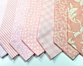 Blush Neckties Blush Wedding Neckties Mens Neckties Weddings