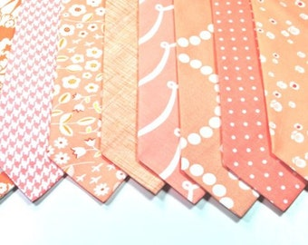 Peach Neckties Mens Neckties Wedding Neckties Custom Neckties