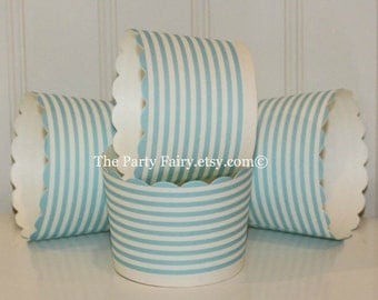 Cupcake Baking Cups, Light Blue Ring Cupcake Bake Cups, Cupcake Liners, Paper Cupcake cups, Candy Cup, Paper Nut cup, Wedding Candy Cup