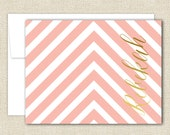 Monogram Note Cards - Set of 10 with Envelopes - MAZE Collection in Blush - By A Blissful Nest