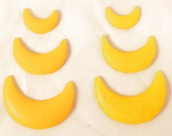 Sailor Moon Scout Resin Crescent Moon Costume Cosplay Accessories Yellow Forehead Tiara Earrings Boots