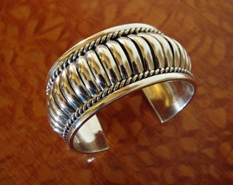 Thomas Charlie Bracelet Navajo Silver