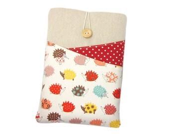 iPad Mini Sleeve, Paperwhite Case, Kindle Case, Kindle Fire HD6,  Nexus 7 Case, Kindle Touch Sleeve, Hedgehogs, Kindle Voyage Cover