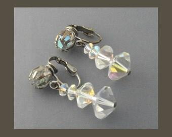 Crystal Bead Earrings, Crystal Earrings, Crystal Dangle Earrings, Long Crystal Earrings, Bridal Earrings, Wedding Jewelry