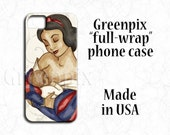 Disney iPhone 6 case, Disney Galaxy S6 case, Snow White motherhood, breastfeeding, infant baby, princess, feminine gift for her, newborn