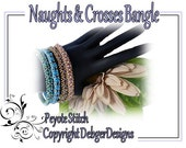 Naughts and Crosses Bangle- Beading Pattern Tutorial